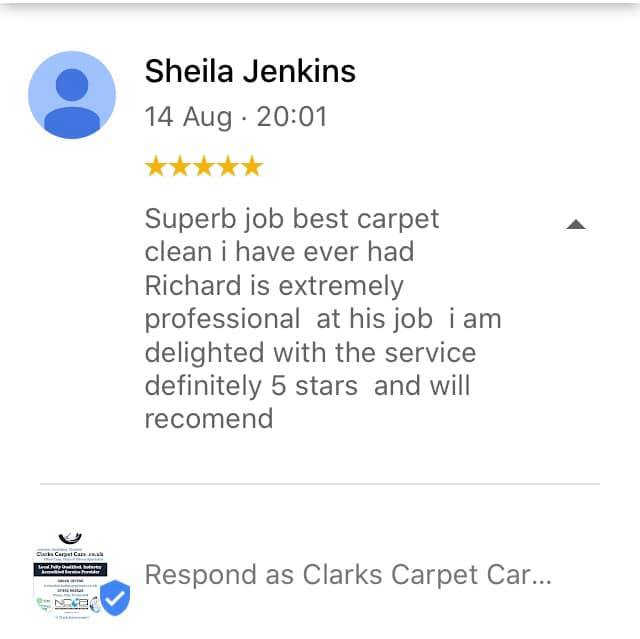 Carpet Clean Review Edinburgh by Sheila