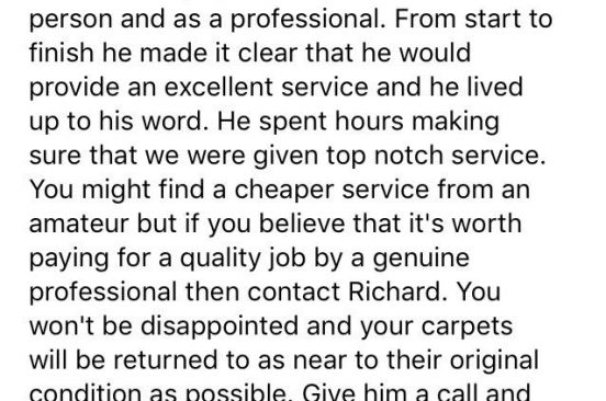 Review Edinburgh Carpet CLean