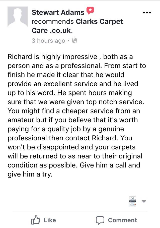 Edinburgh Carpet Cleaner Review By Stewart
